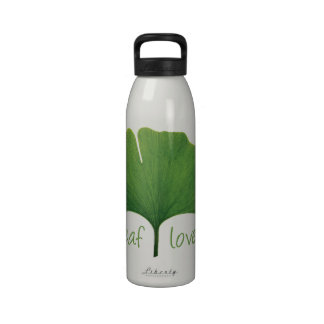 Hoja del Gingko Botella De Agua