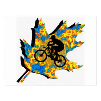 Hoja del Hippie de la bici Postales