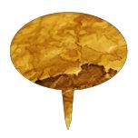 Hoja del oro decoraciones para tartas