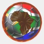 Hoja del pegatina de África Suráfrica 6 del fútbol