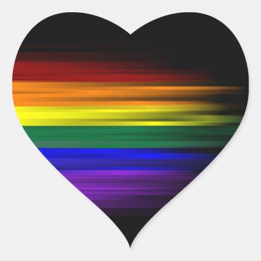 Hoja del pegatina de la bandera del arco iris