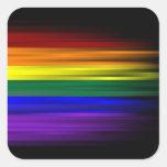 Hoja del pegatina de la bandera del arco iris (cua