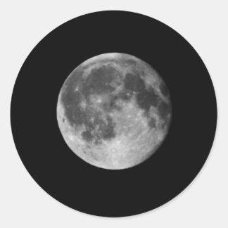 Hoja del pegatina de la Luna Llena