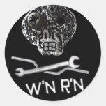 Hoja del pegatina de W'nR'n