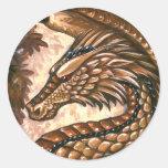 Hoja del pegatina del dragón del Topaz