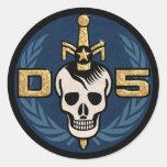 Hoja del pegatina del emblema del peligro 5