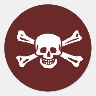Hoja del pegatina del fiesta del pirata