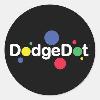 Hoja del pegatina del logotipo de DodgeDot