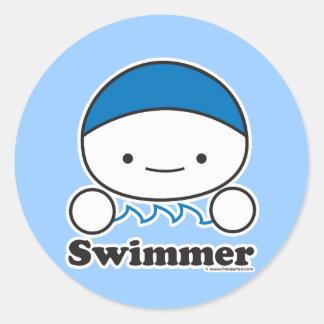 Hoja del pegatina del nadador (más tamaños)