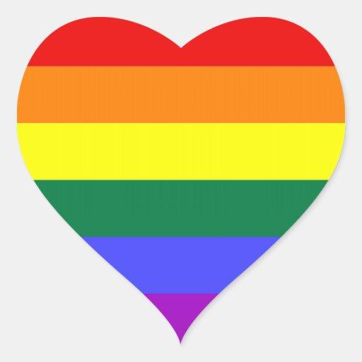 Hoja del pegatina del orgullo de LGBT (corazón)