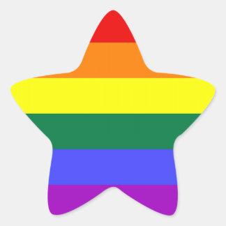 Hoja del pegatina del orgullo de LGBT (estrella)