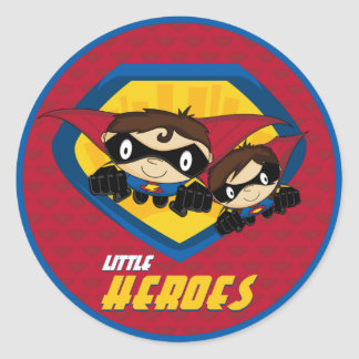 Hoja del pegatina del super héroe