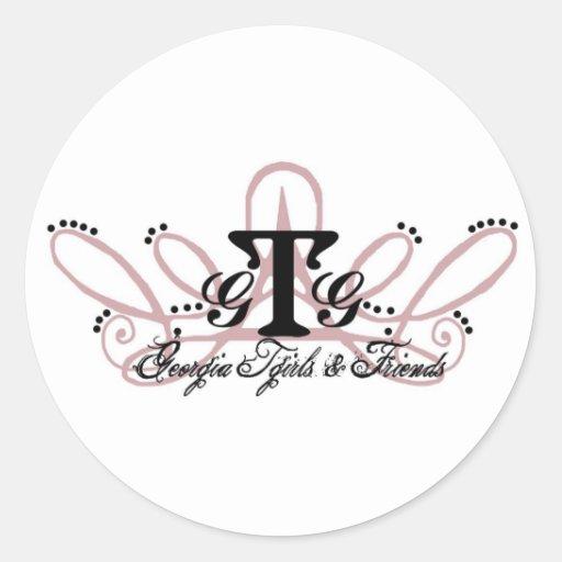 Hoja del pegatina - diseño del GA Tgirls