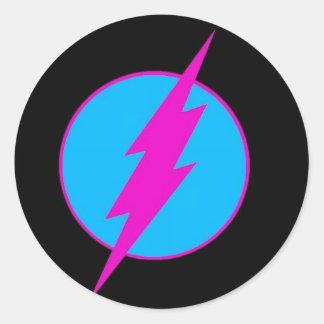 "¡hoja del pegatina logotipo del flash"" del chruch"