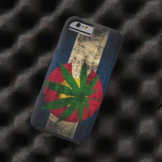 Hoja del pote de la bandera de Colorado Funda De iPhone 6 Tough