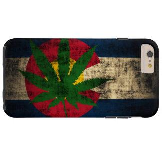 Hoja del pote de la bandera de Colorado Funda De iPhone 6 Plus Tough