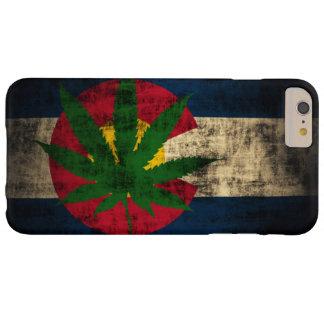 Hoja del pote de la bandera de Colorado Funda De iPhone 6 Plus Barely There