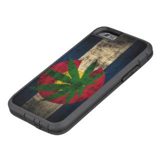 Hoja del pote de la bandera de Colorado Funda De iPhone 6 Tough Xtreme