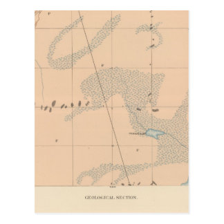 Hoja detallada IX de la geología Tarjetas Postales