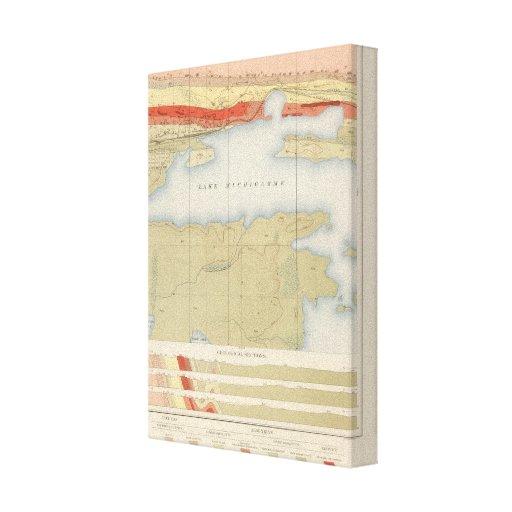 Hoja detallada V de la geología Impresión De Lienzo