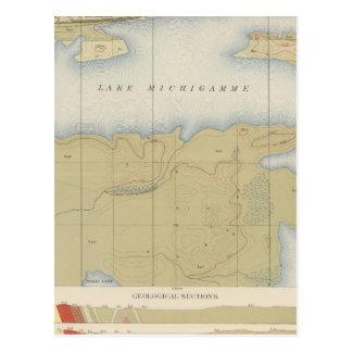 Hoja detallada V de la geología Tarjeta Postal