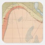 Hoja detallada VII de la geología Pegatina Cuadrada