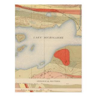 Hoja detallada VIII de la geología Tarjetas Postales