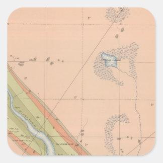 Hoja detallada X de la geología Pegatina Cuadrada