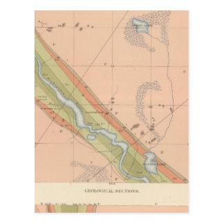 Hoja detallada X de la geología Tarjetas Postales