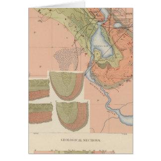 Hoja detallada XI de la geología Tarjeta De Felicitación