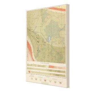 Hoja detallada XIX de la geología Impresion De Lienzo