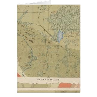 Hoja detallada XIX de la geología Tarjeta De Felicitación