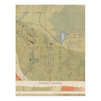 Hoja detallada XIX de la geología Tarjetas Postales