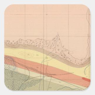 Hoja detallada XV de la geología Pegatina Cuadrada
