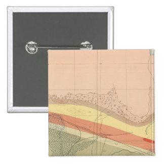 Hoja detallada XV de la geología Pin Cuadrada 5 Cm
