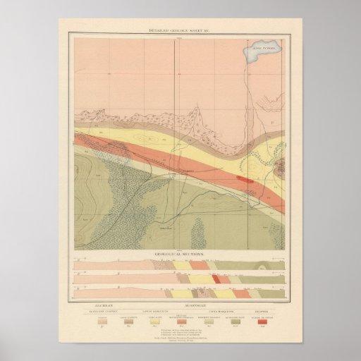 Hoja detallada XV de la geología Poster