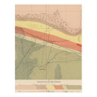 Hoja detallada XVI de la geología Tarjeta Postal