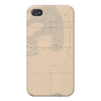Hoja detallada XVII de la geología iPhone 4 Protectores