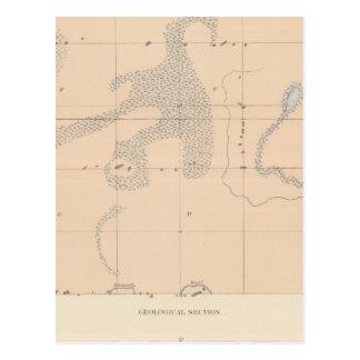 Hoja detallada XVII de la geología Tarjetas Postales