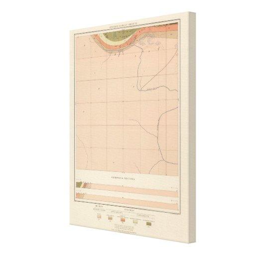 Hoja detallada XX de la geología Impresión En Lona