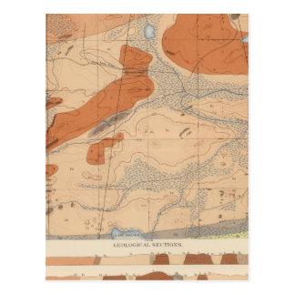 Hoja detallada XXIV de la geología Tarjetas Postales