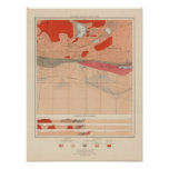 Hoja detallada XXIX de la geología Póster