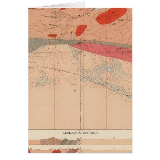 Hoja detallada XXIX de la geología Tarjetas