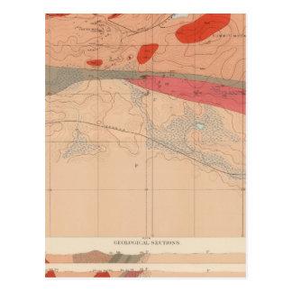 Hoja detallada XXIX de la geología Tarjetas Postales