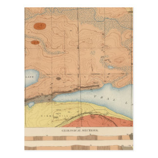 Hoja detallada XXVII de la geología Tarjeta Postal
