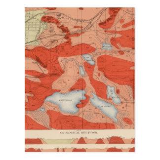 Hoja detallada XXVIII de la geología Postales
