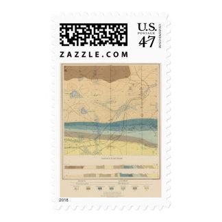 Hoja detallada XXXIII de la geología Timbres Postales