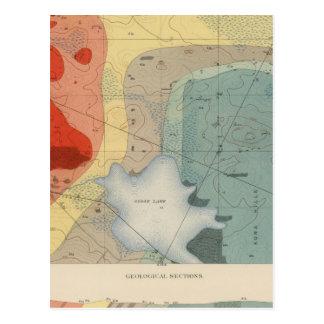 Hoja detallada XXXIV de la geología Postales