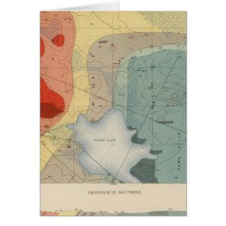 Hoja detallada XXXIV de la geología Tarjeta De Felicitación