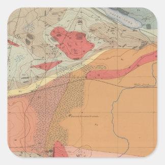 Hoja detallada XXXV de la geología Pegatina Cuadrada